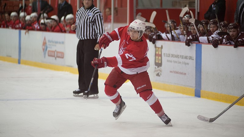 Hawks soar past McGill to collect first win of the hockey season