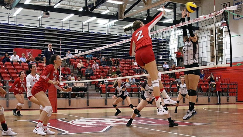 VOLLEYBALL: Huskies pounce on unsuspecting Martlets