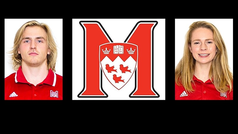 Fournier and Hirsch named McGill athletes of the week