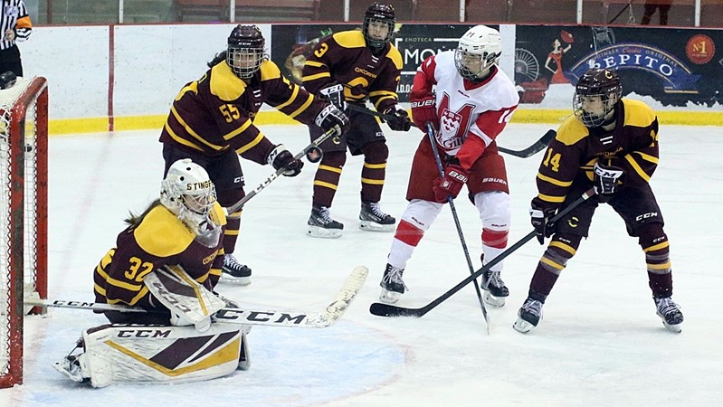 Lecours lights lamp as hockey Martlets ice top-ranked Stingers in double overtime