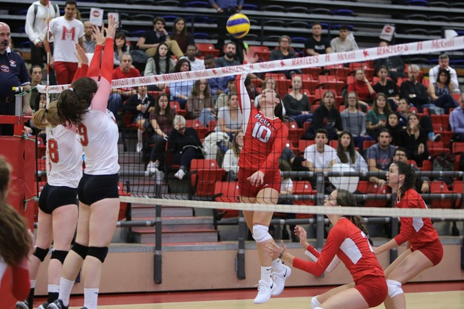 Volleyball Martlets sweep Gee-Gees to halt four-game slide